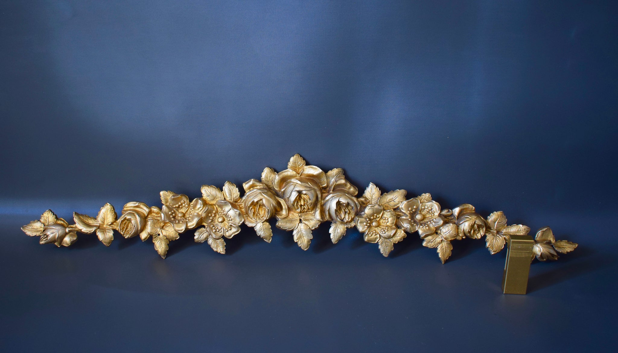 Flower Bronze Pediment 1 - Charmantiques