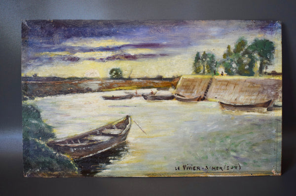 Impressionist Oil Painting of Brittany - Charmantiques