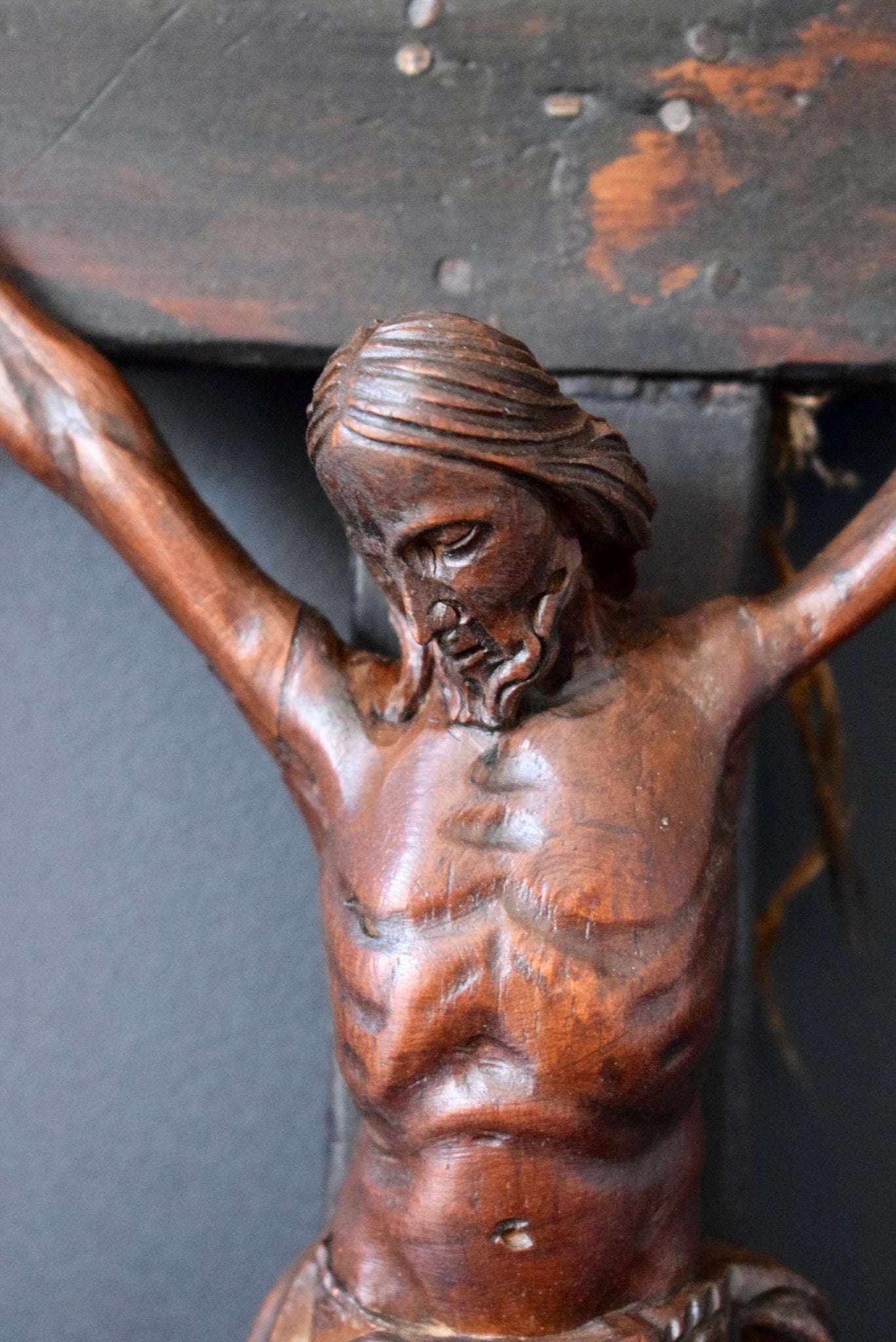 Carved Wall Crucifix - Charmantiques