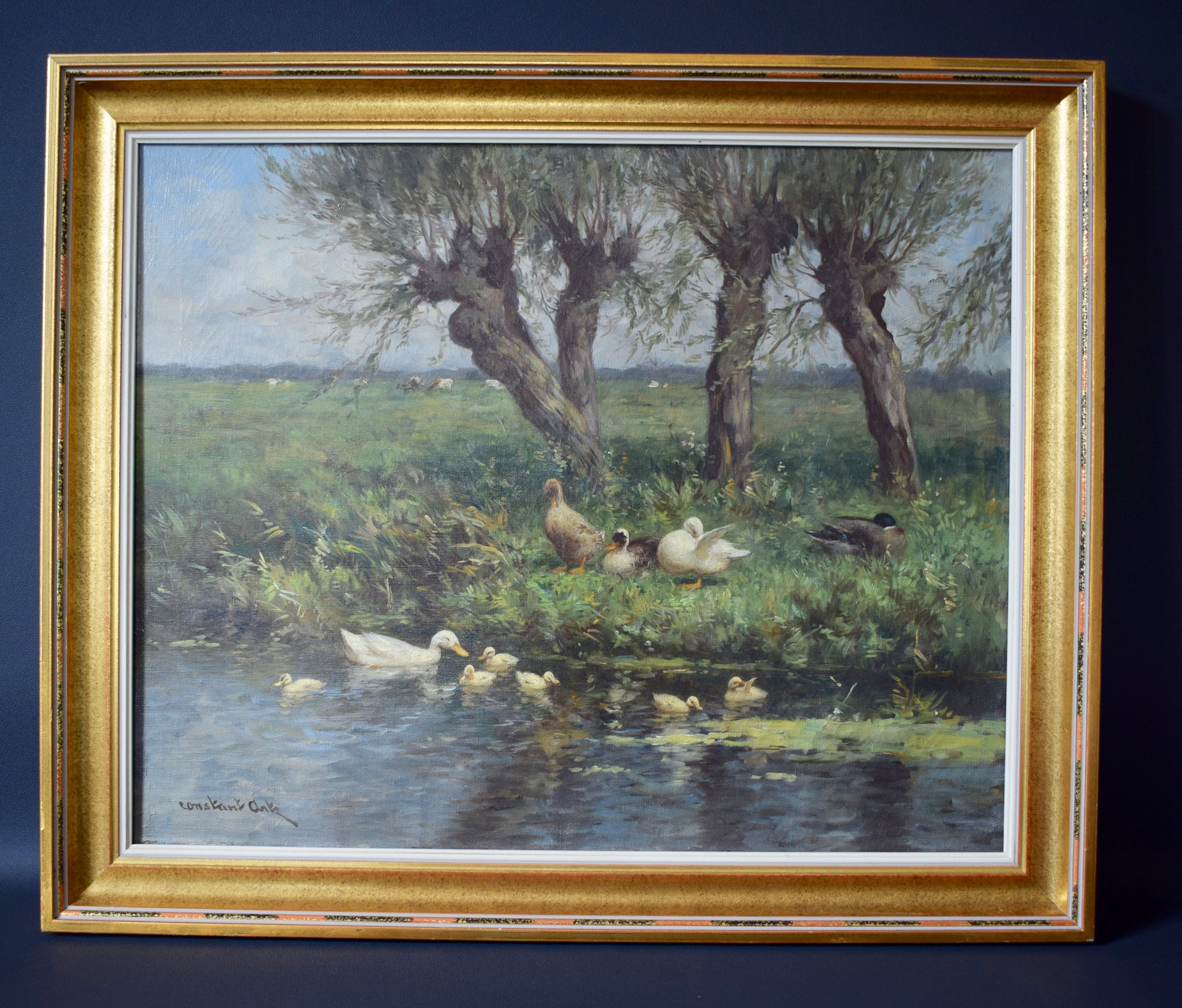 Constant Artz Ducks Painting - Charmantiques