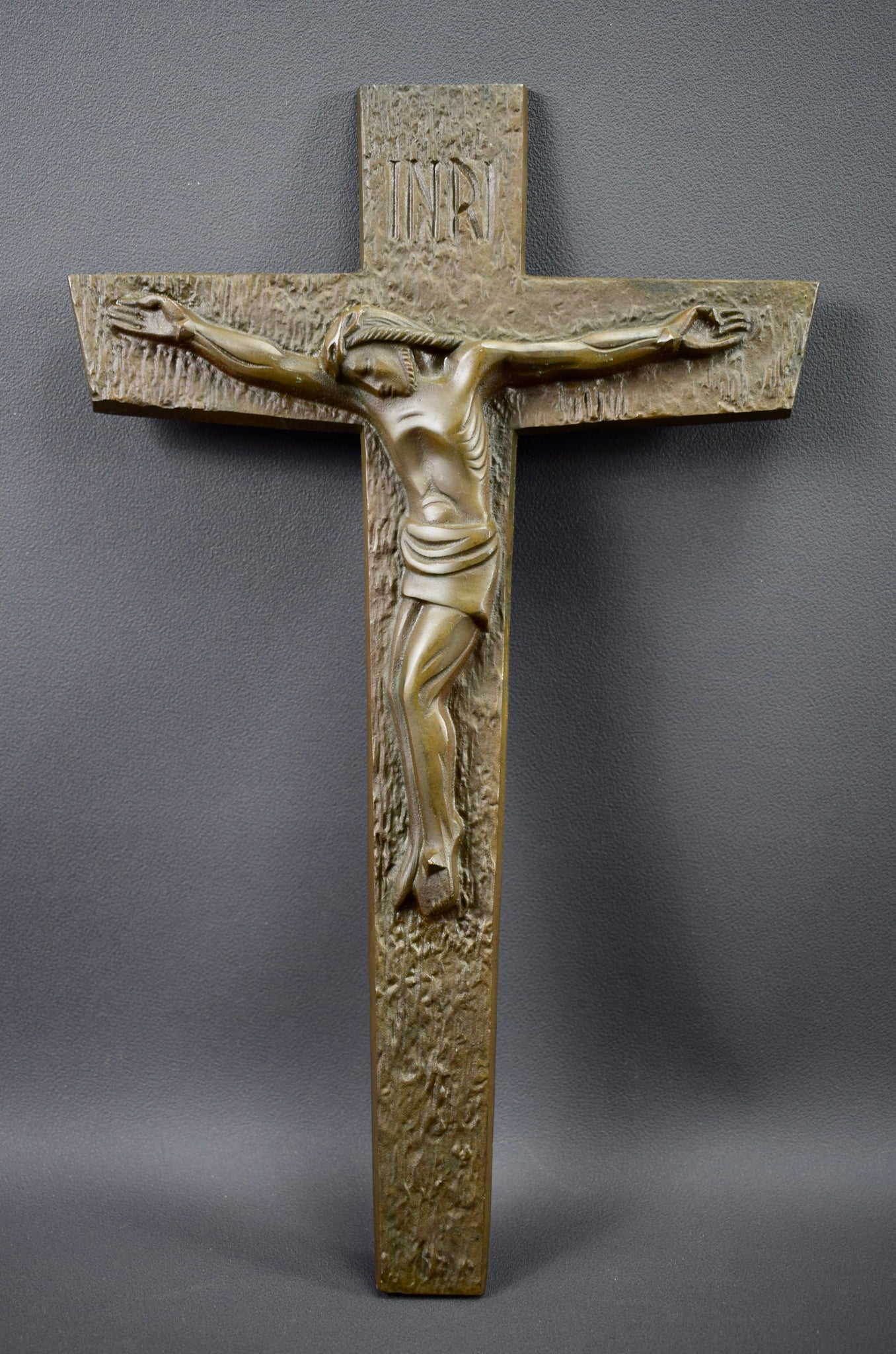 Bronze Crucifix Signed Dubois - Charmantiques