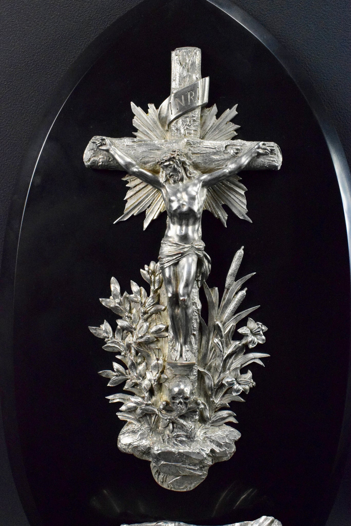 Crucifix Holy Water Font - Charmantiques