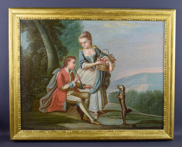 18th Century Oil Painting - Charmantiques