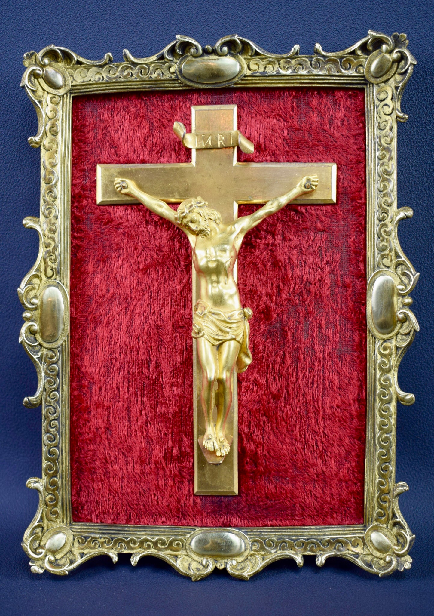 Bronze Wall Crucifix Frame - Charmantiques