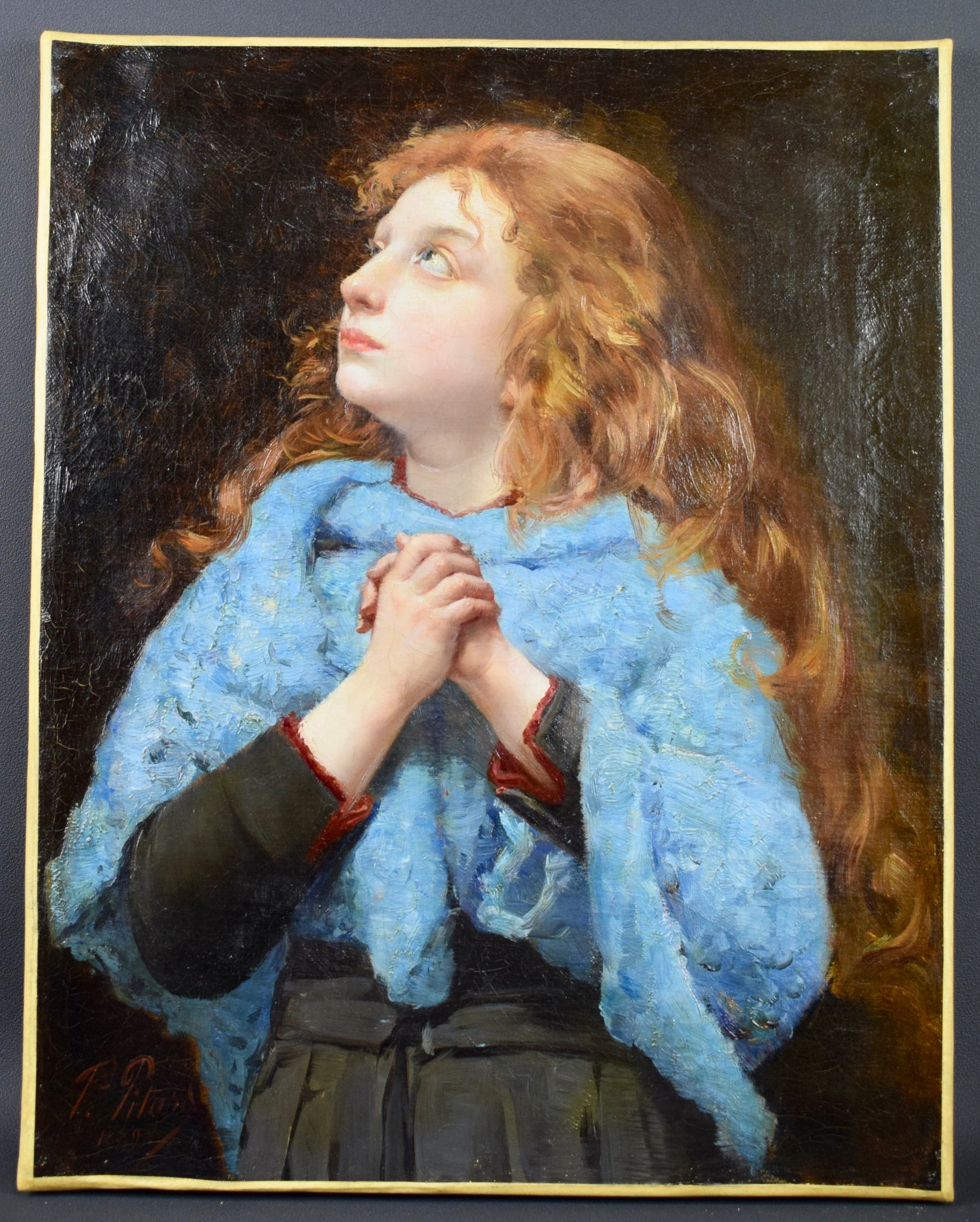 Young Girl Portrait by Pitard - Charmantiques