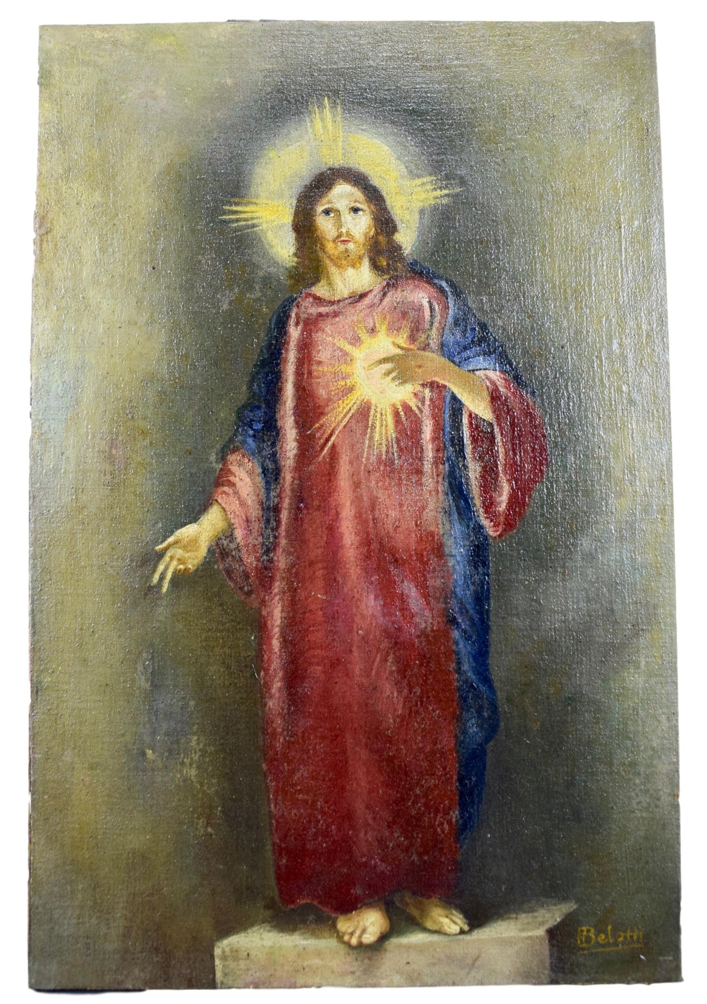 Sacred Heart of Jesus Painting - Charmantiques