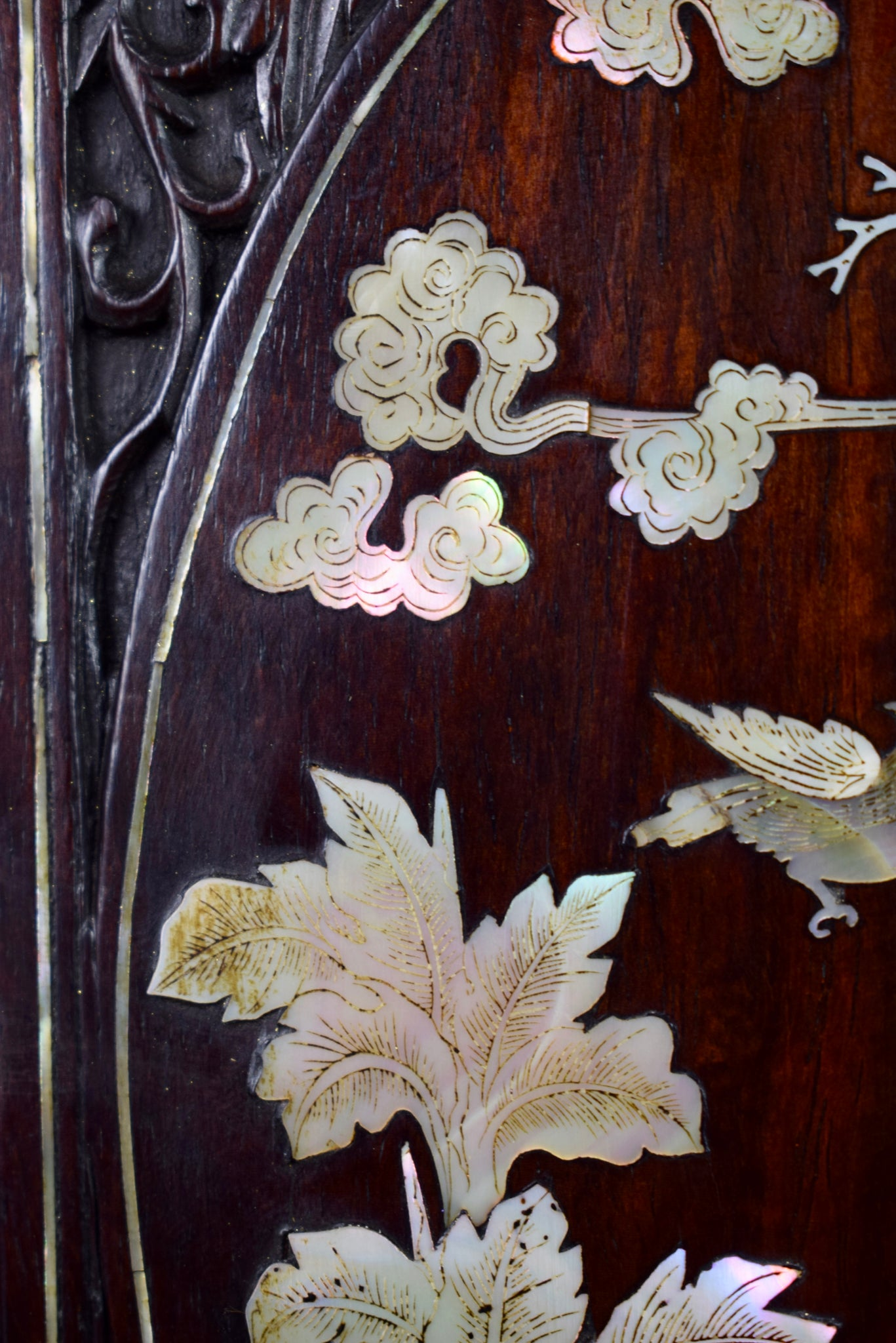 Vietnamese Carved Panel - Charmantiques