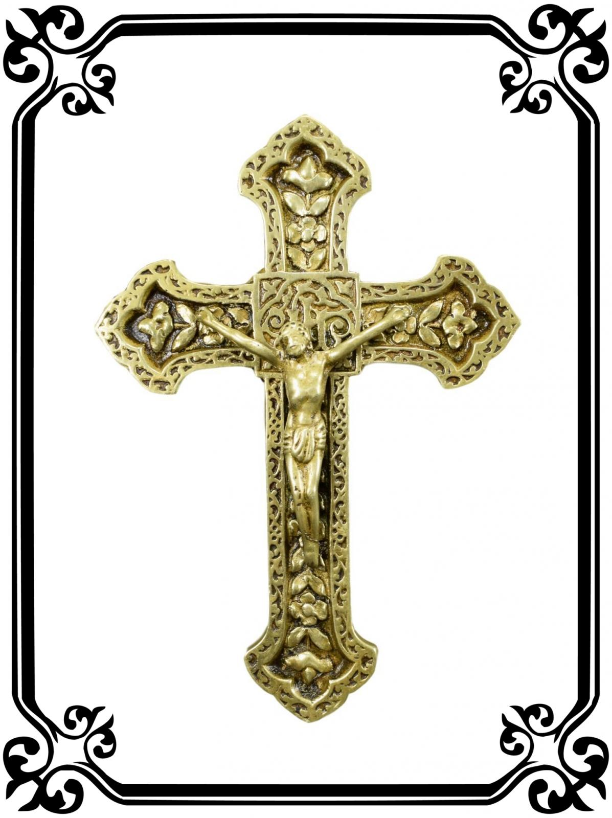 Bronze Wall Cross - Charmantiques
