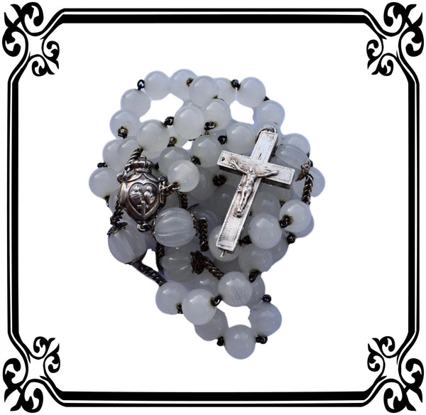 Sterling Silver Rosary Reliquary - Charmantiques