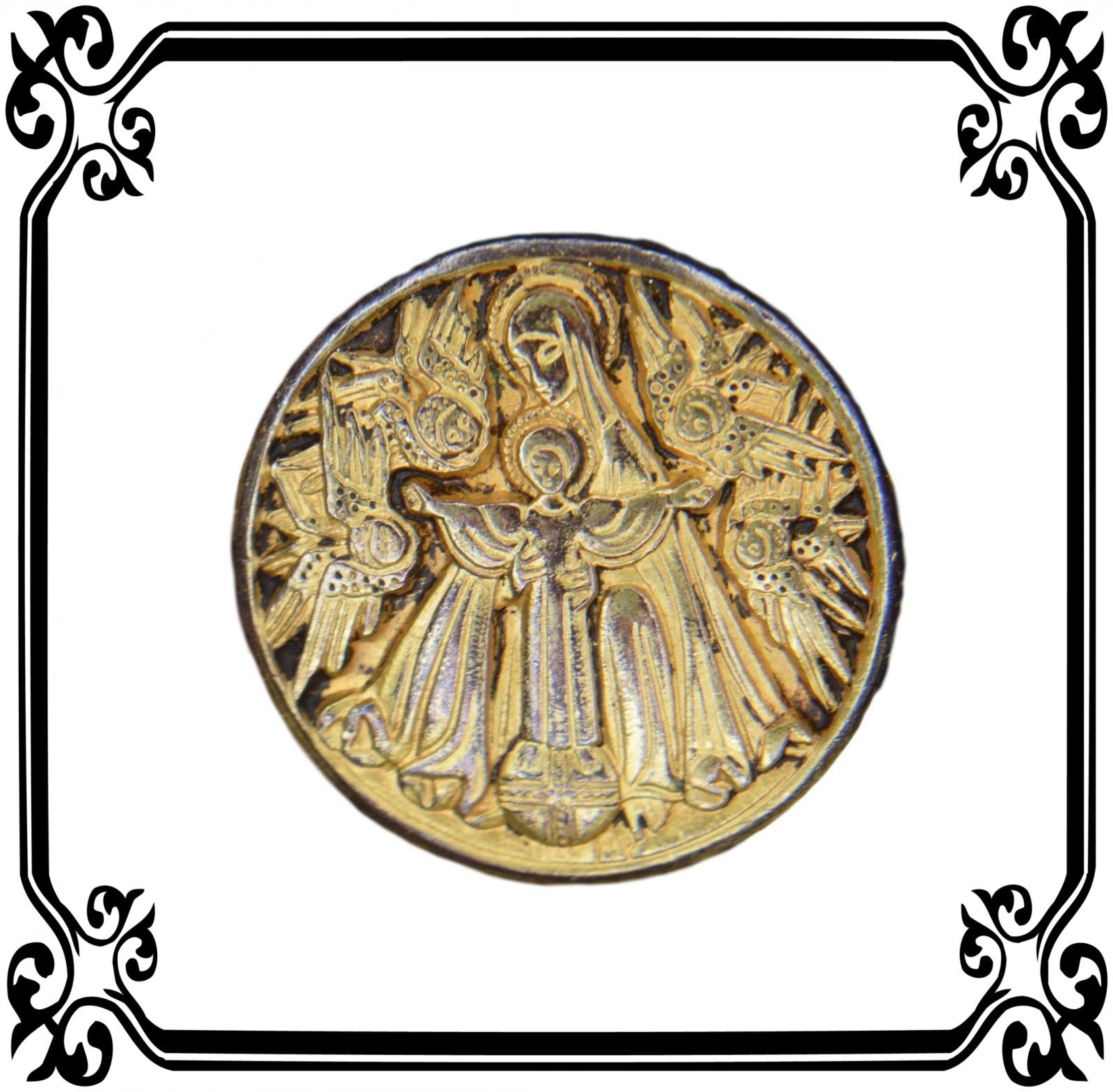 Religious Brooch Py - Charmantiques