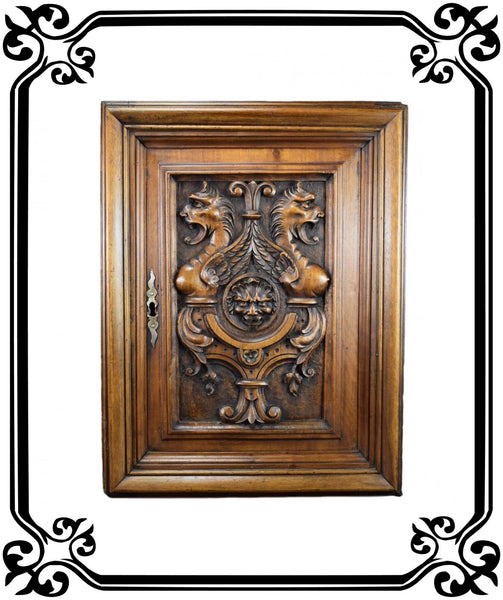 Wood Door Chimera 17th 2 - Charmantiques