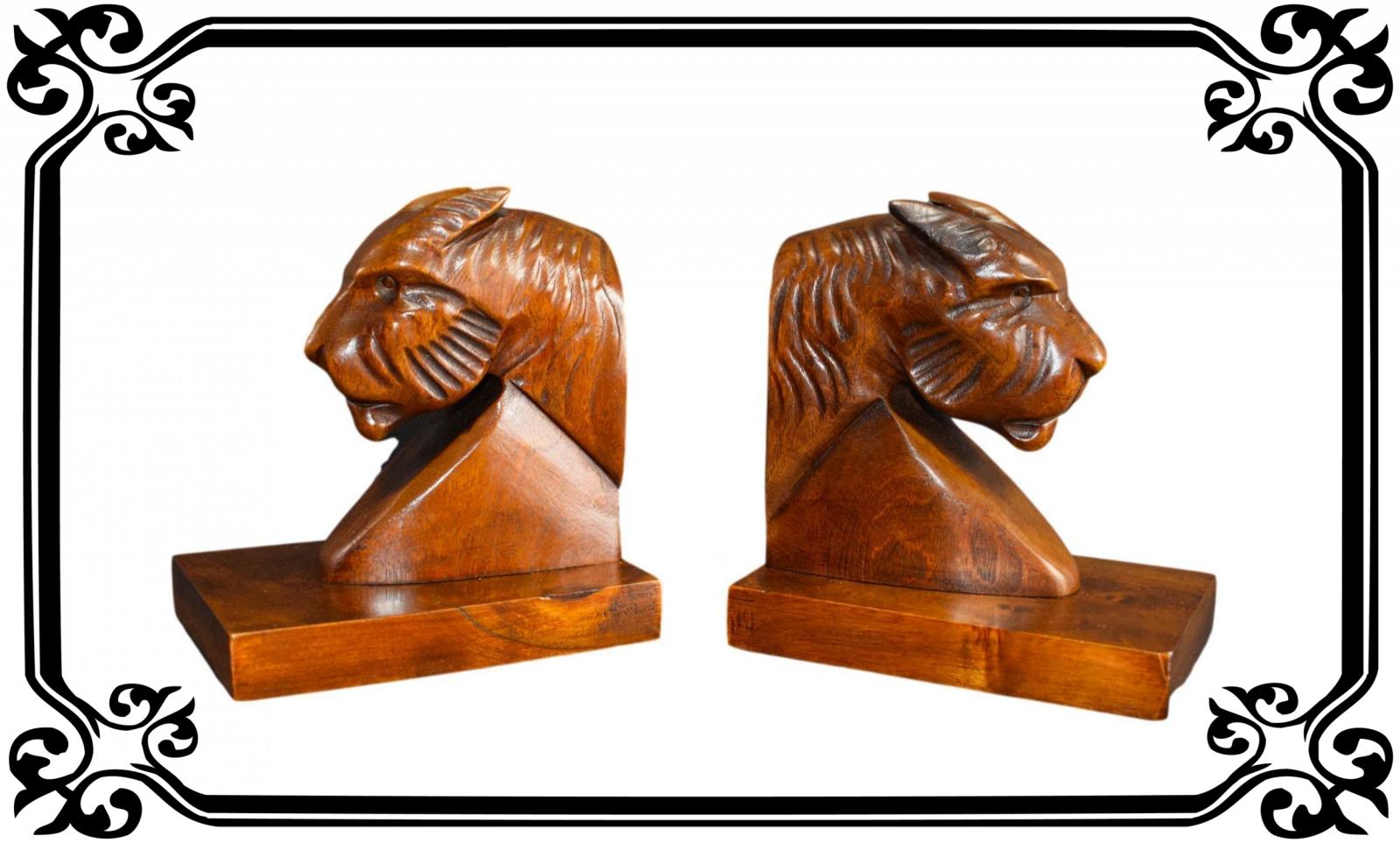 Vintage French Art Deco Panther Bookends Book ends