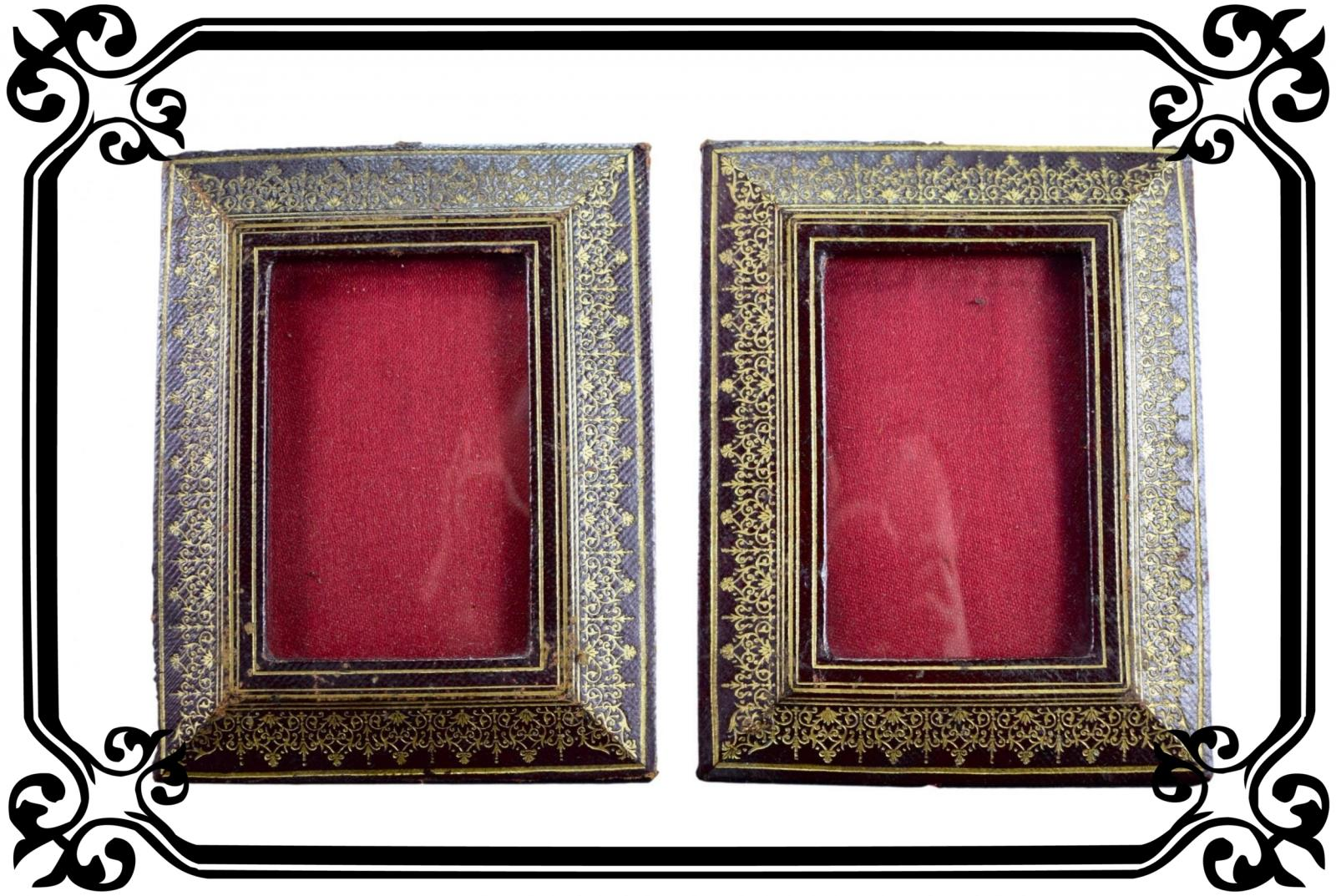 Vintage French Antique Pair of photo Frames Napoleon 3