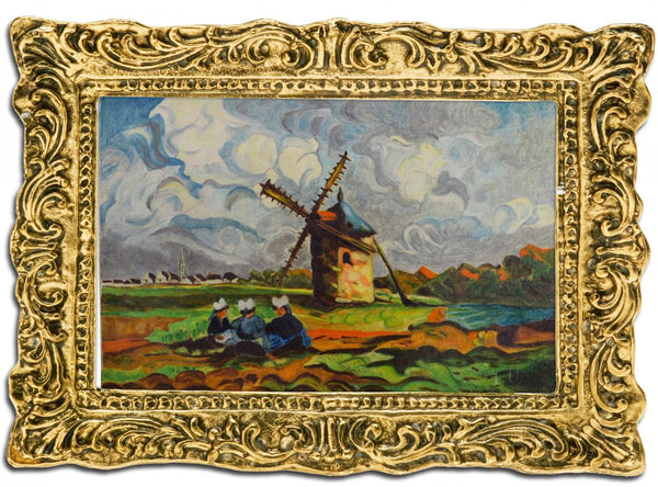 VINTAGE French Antique Painting Fauvism Brittany