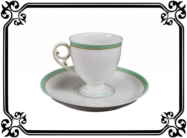 French Porcelain Cup and Saucer of Paris 19th - Saint Honoré Paris N°2