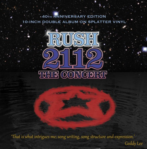 Rush ‎– 2112 the Concert - Limited Edition Transparent With Black And Blue Splatter Vinyl 2 x 10