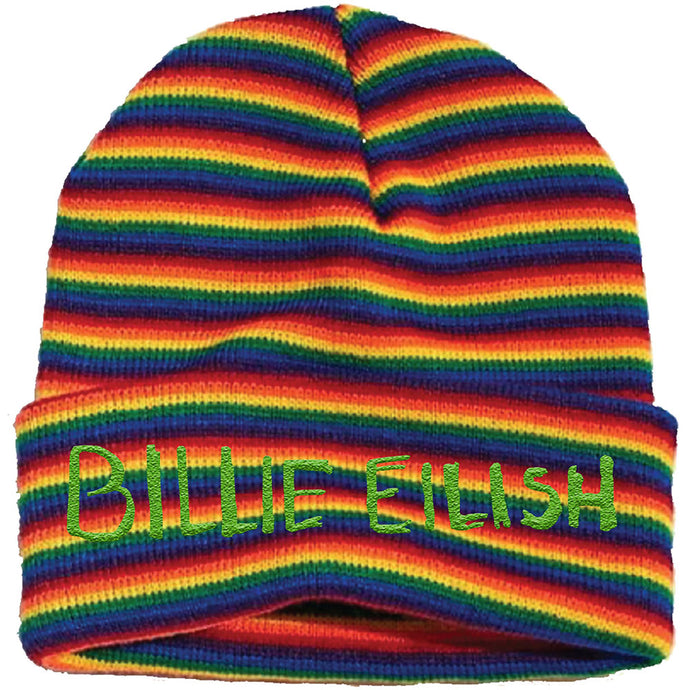 BILLIE EILISH UNISEX BEANIE HAT:STRIPES