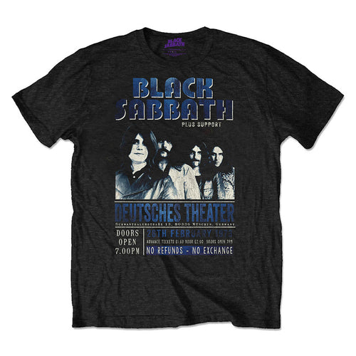 Black Sabbath Unisex Eco-Tee: Deutsches '73