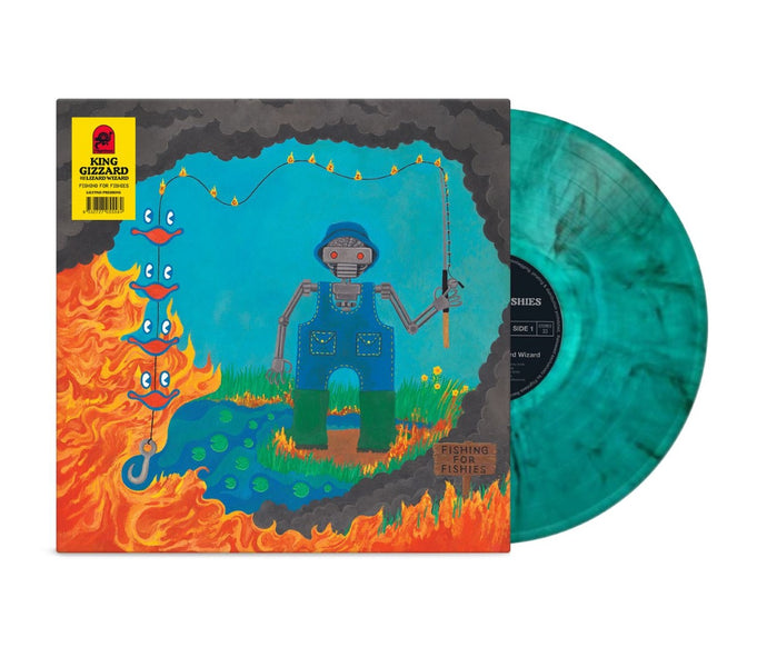 King Gizzard & The Lizard Wizard - Fishing For Fishies (Lilypad Edition) - Aqua Marble Vinyl LP