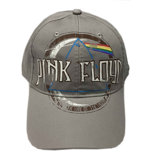 PINK FLOYD UNISEX BASEBALL CAP: DARK SIDE OF THE MOON ALBUM DISTRESSED (GREY)