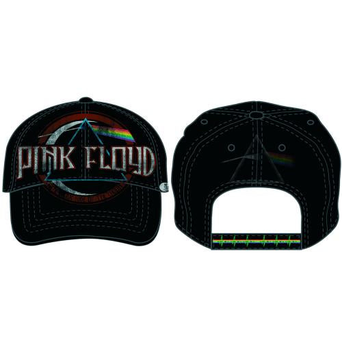 PINK FLOYD UNISEX BASEBALL CAP: DARK SIDE OF THE MOON ALBUM DISTRESSED (BLACK)