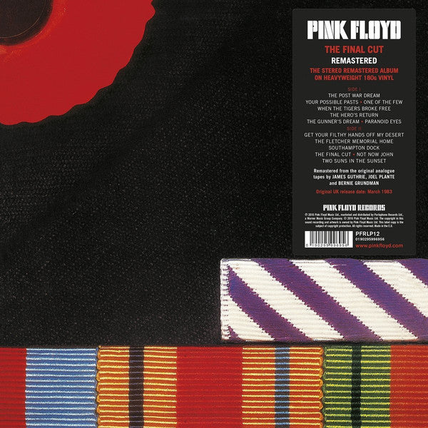 Pink Floyd ‎– The Final Cut - Remastered - Vinyl LP