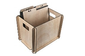 Vinyl record storage case and dividers