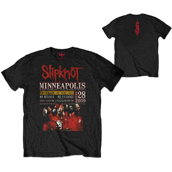 Slipknot Unisex Eco-Tee: Minneapolis '09 (Back Print)