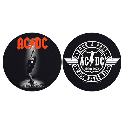 AC/DC TURNTABLE SLIPMAT SET: LET THERE BE ROCK/ROCK & ROLL