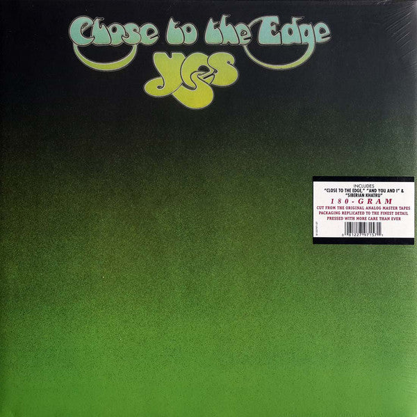 Yes ‎– Close To The Edge - 180G Vinyl LP