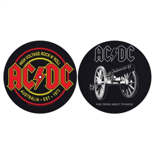 AC/DC - For Those About To Rock / High Voltage - Slipmat x 2