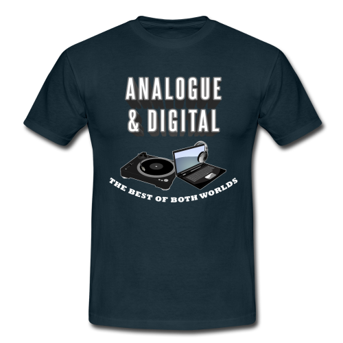 BTD UNISEX TEE: ANALOGUE & DIGITAL - NAVY
