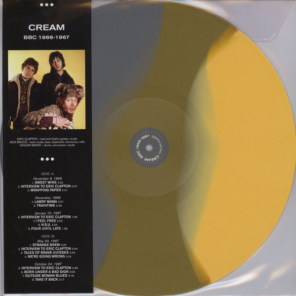 Cream ‎– Cream BBC 1966 -1967 -  Coloured Vinyl LP, 33 RPM Mono Limited Edition