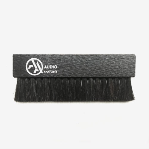 Audio Anatomy Oak Wood Brush - Antistatic Goat And Nylon Fiber - Deluxe (Dry & Wet Cleaning)