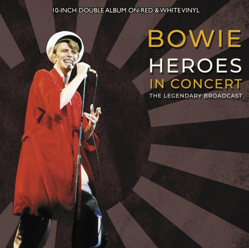 David Bowie ‎– Heroes In Concert - Numbered Limited Edition Red & White Vinyl 2 x 10