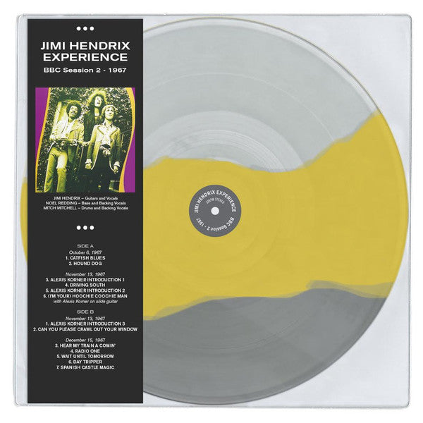 Jimi Hendrix Experience ‎– BBC Session 2 1967 -  Coloured Vinyl LP, 33 RPM Stereo Limited Edition
