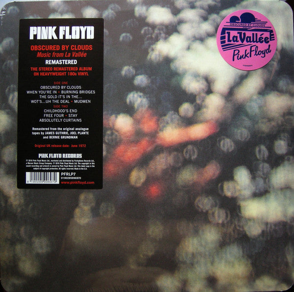 Pink Floyd ‎– Obscured By Clouds (Music From La Vallee) - Remastered Reissue - Vinyl LP