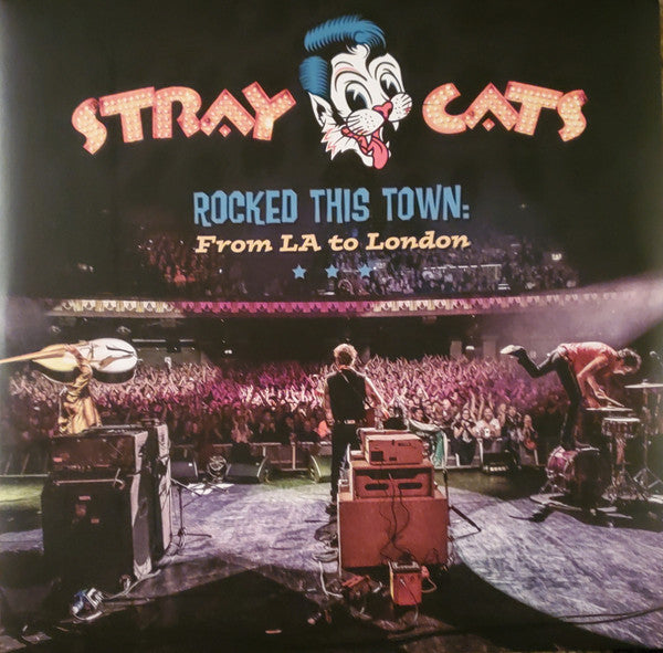 Stray Cats ‎– Rocked This Town: From LA To London - 180G Blue Vinyl 2LP