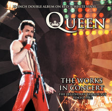 Queen ‎– The Works In Concert: Numbered Limited Edition 10-Inch 2LP on Red & White Vinyl in Gatefold Sleeve