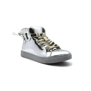 SILVER PATENT ENCORE - Bacana Clothing + Shoes