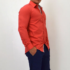 SLIM FIT SHIRT SALMON - Bacana Clothing + Shoes