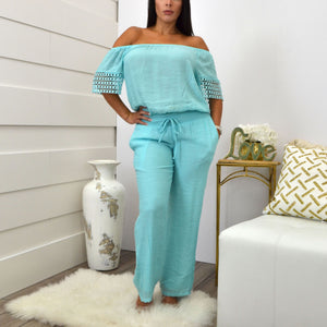 LORENA ADAMS BLOUSE AQUA