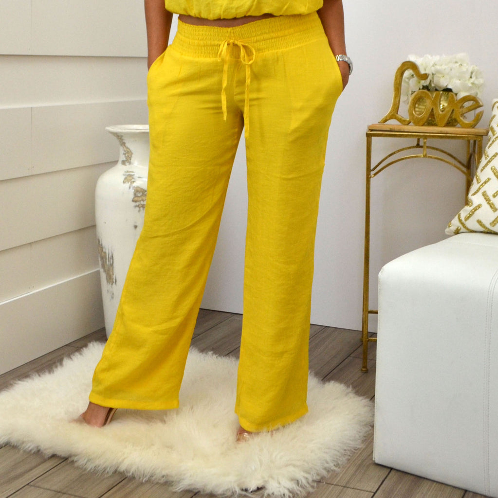 LORENA ADAMS PANTS YELLOW - Bacana Clothing + Shoes