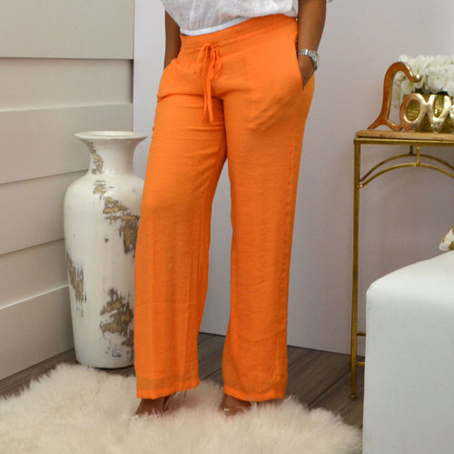 LORENA ADAMS PANTS ORANGE - Bacana Clothing + Shoes