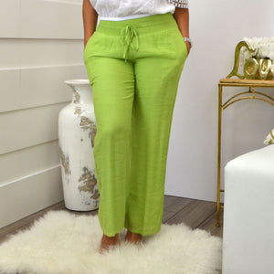LORENA ADAMS PANTS GREEN - Bacana Clothing + Shoes