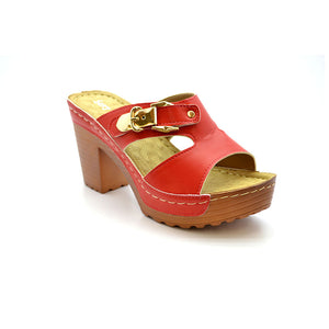 MICHELLE 18 RED MEDIUM HEELS - Bacana Clothing + Shoes