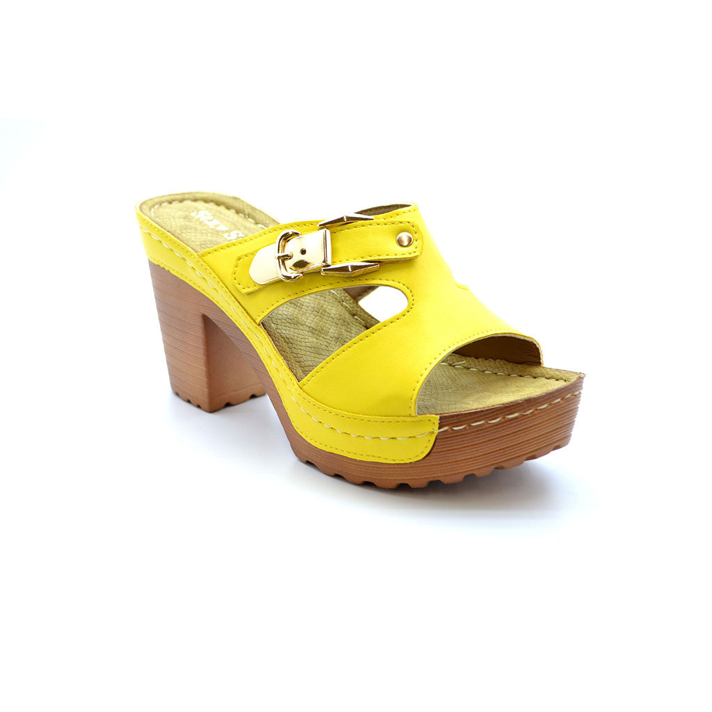 MICHELLE 18 YELLOW MEDIUM HEELS - Bacana Clothing + Shoes