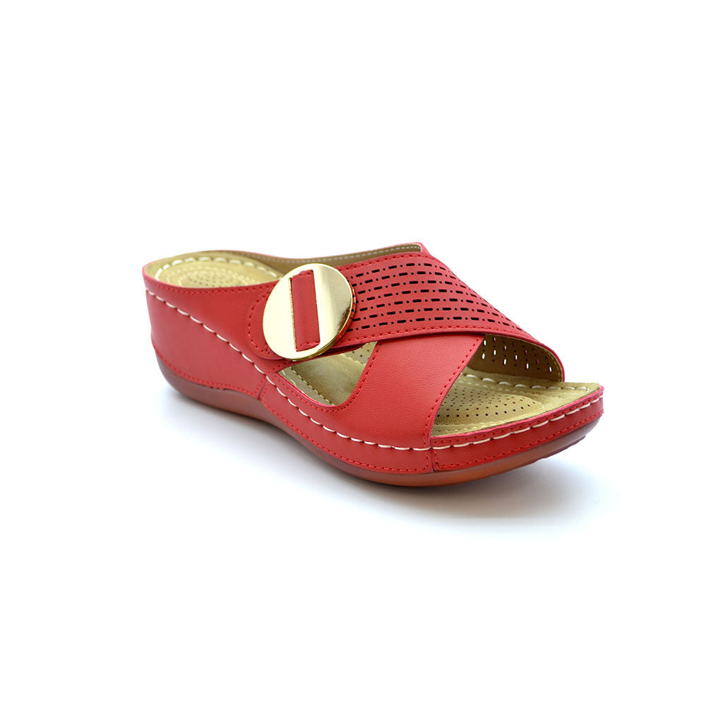 NELLA 2 RED MEDIUM HEELS - Bacana Clothing + Shoes