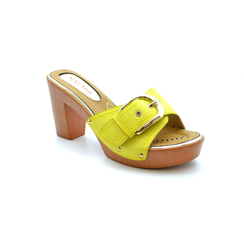 AGNES 18 YELLOW MEDIUM HEELS - Bacana Clothing + Shoes
