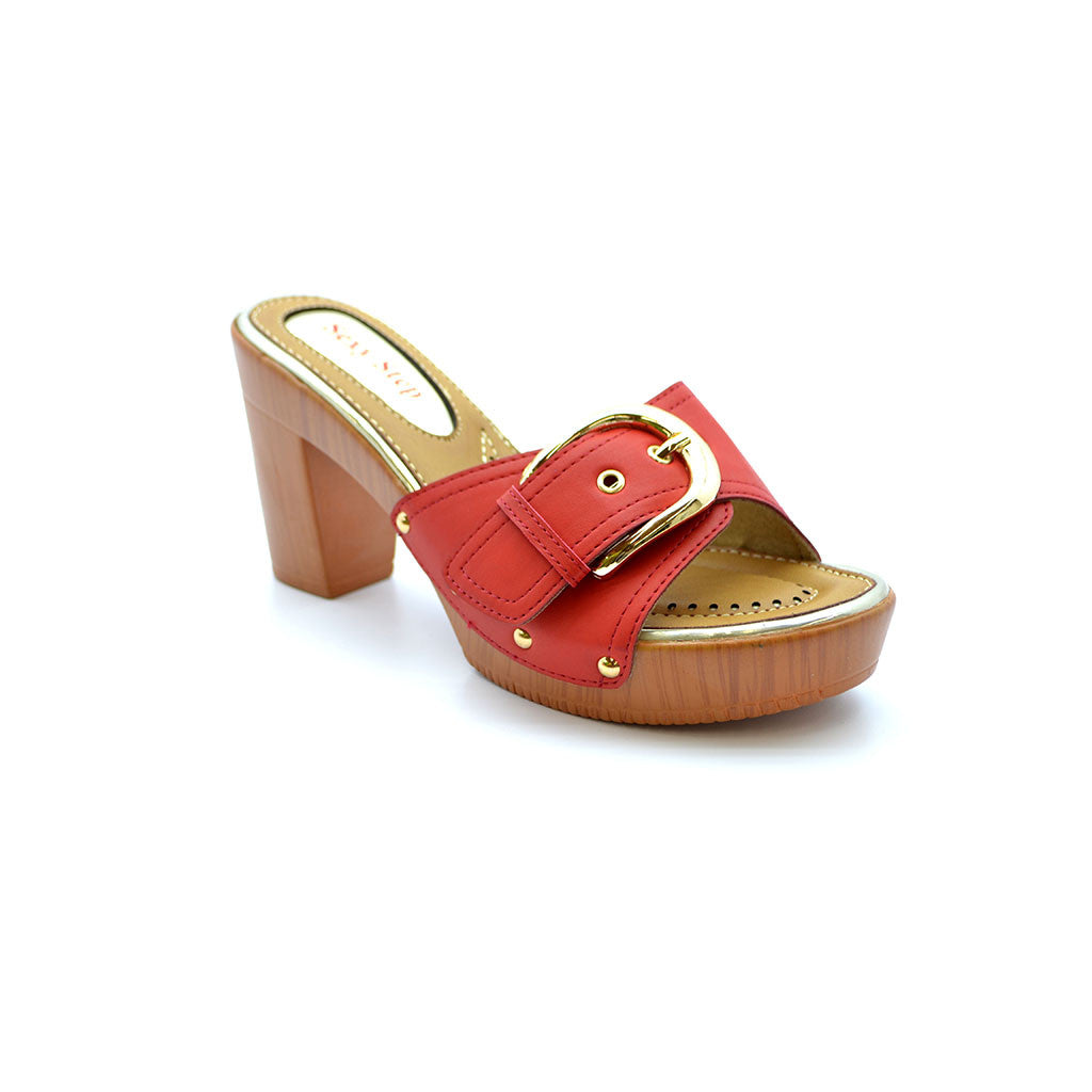 AGNES 18 RED MEDIUM HEELS - Bacana Clothing + Shoes